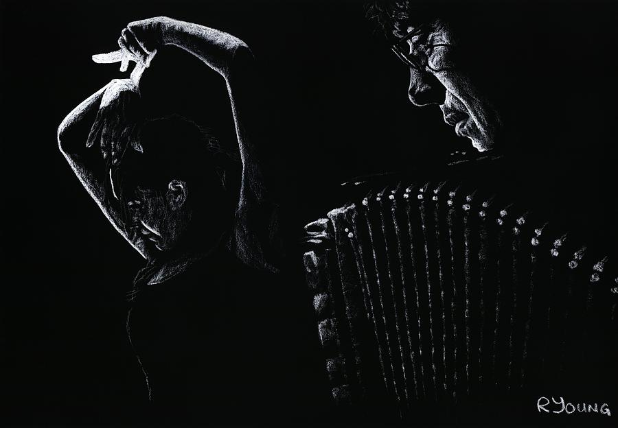 Musician Pastel - The Intensity Of Flamenco by Richard Young