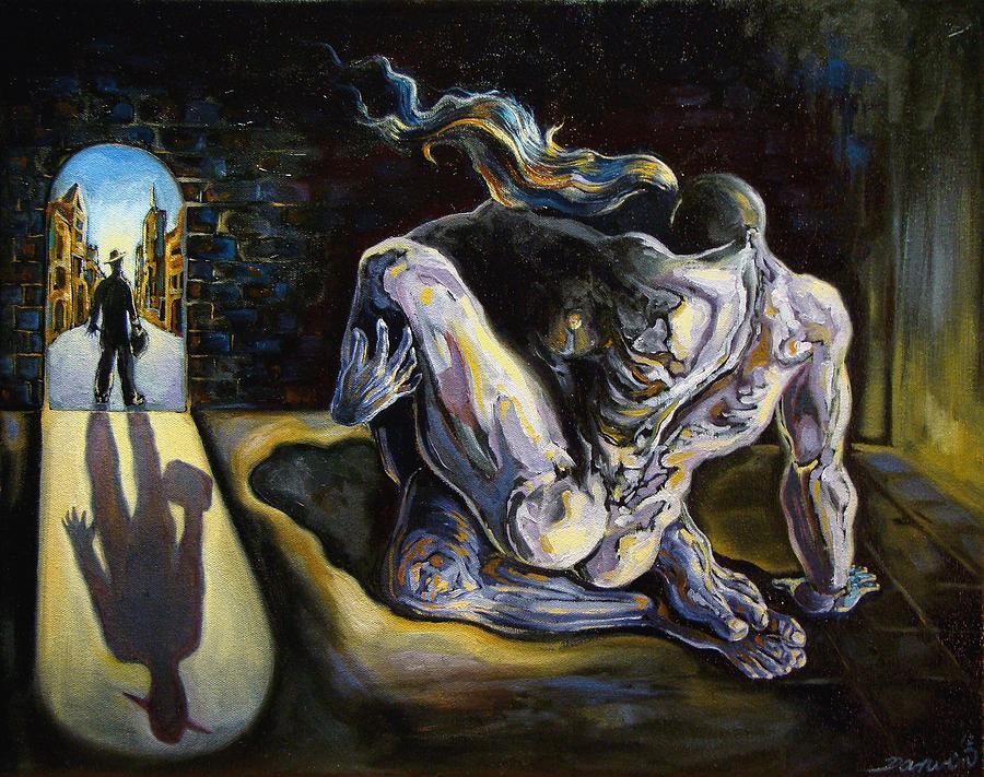 Surrealism Painting - The Internal Affair by Darwin Leon