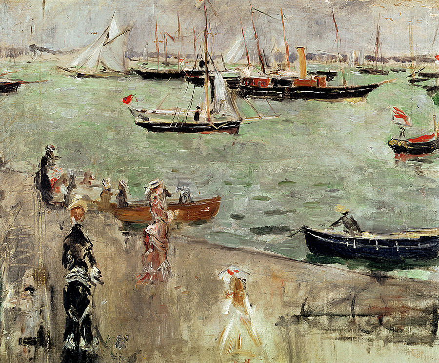 The Painting - The Isle Of Wight by Berthe Morisot