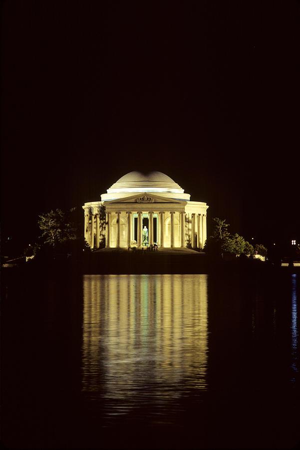 Thomas Jefferson Photograph - The Jefferson Memorial At Night by Kenneth Garrett
