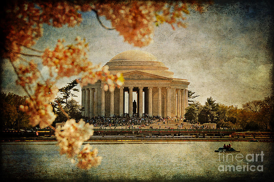 Jefferson Memorial Photograph - The Jefferson Memorial by Lois Bryan