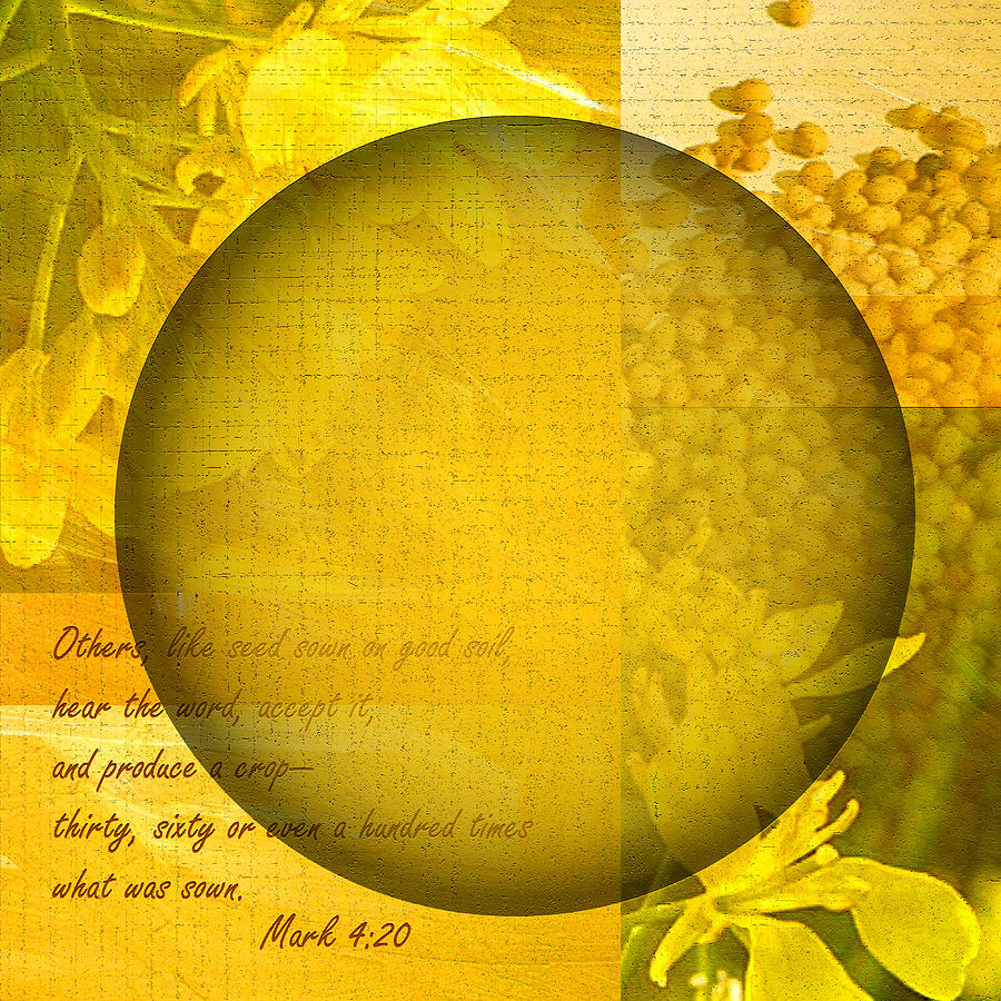 ruth Palmer Digital Art - The Kingdom Of God Is Like A Mustard Seed by Ruth Palmer