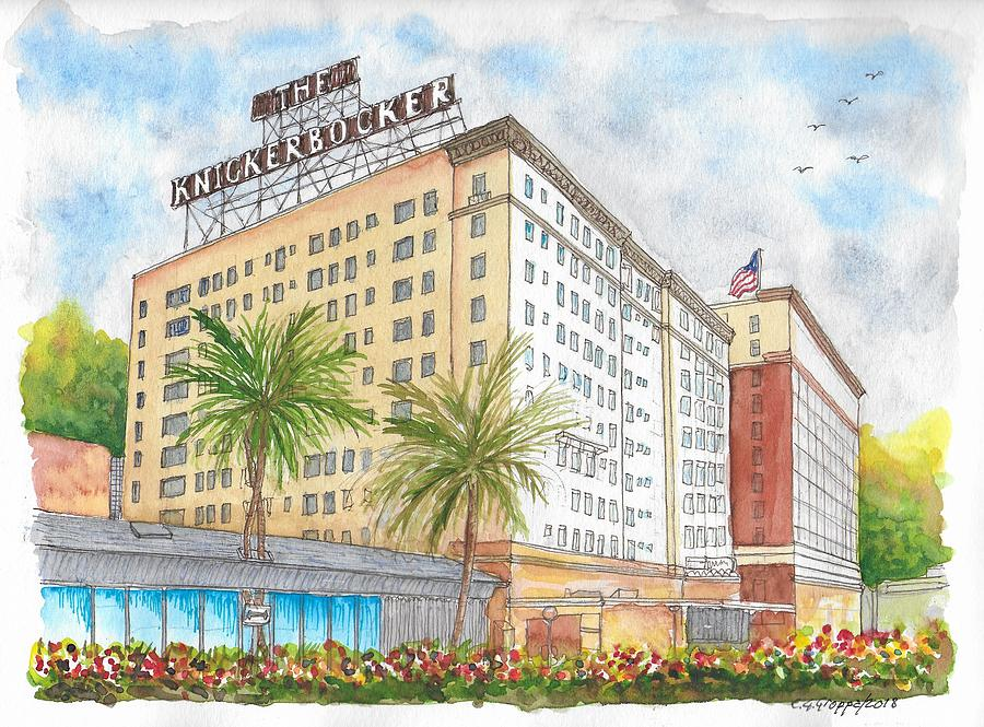 The Knickerbocker Hotel In Hollywood, California Painting