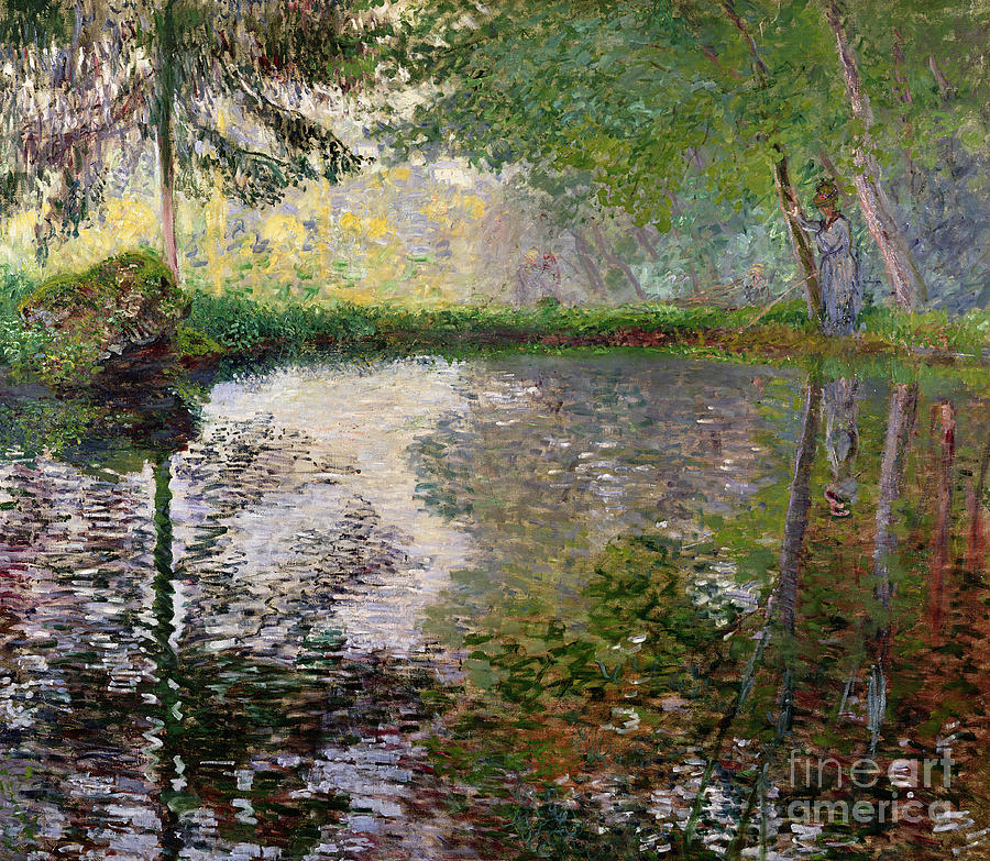 The Lake At Montgeron By Claude Monet (1840-1926) Painting - The Lake At Montgeron by Claude Monet