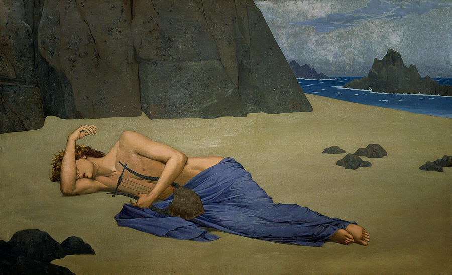 The Lamentation Of Orpheus By Alexandre Seon (1855-1917) Painting - The Lamentation Of Orpheus by Alexandre Seon