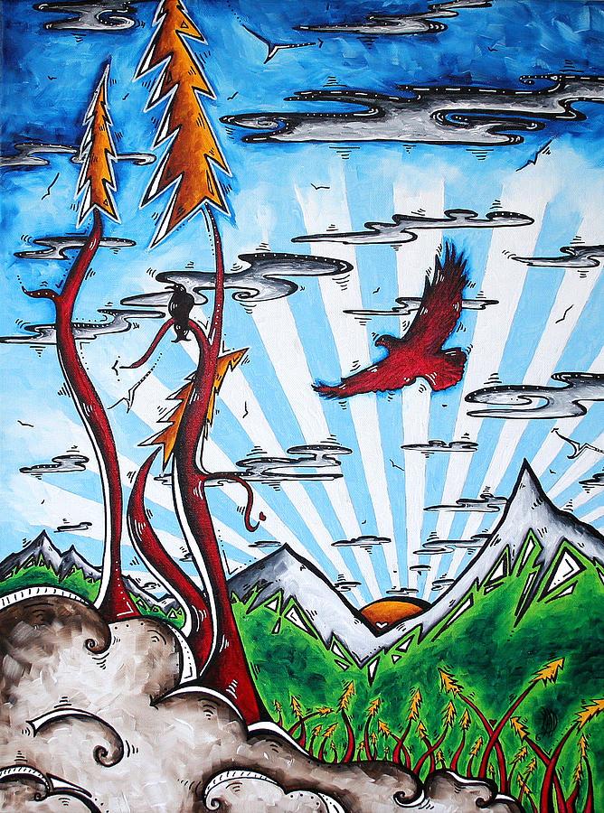 Art Painting - The Last Frontier Original Madart Painting by Megan Duncanson