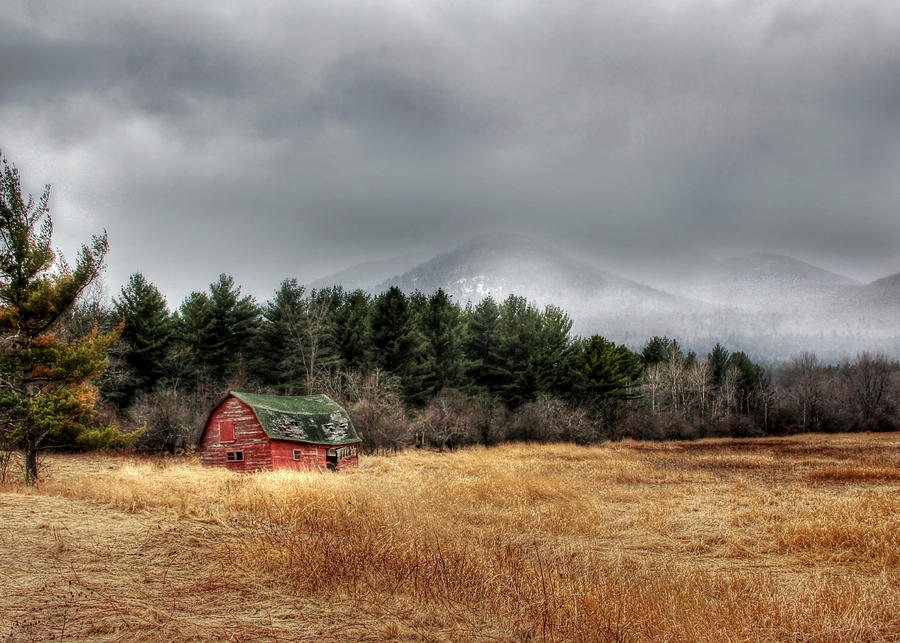 Red Barn Photograph - The Last Stand by Lori Deiter