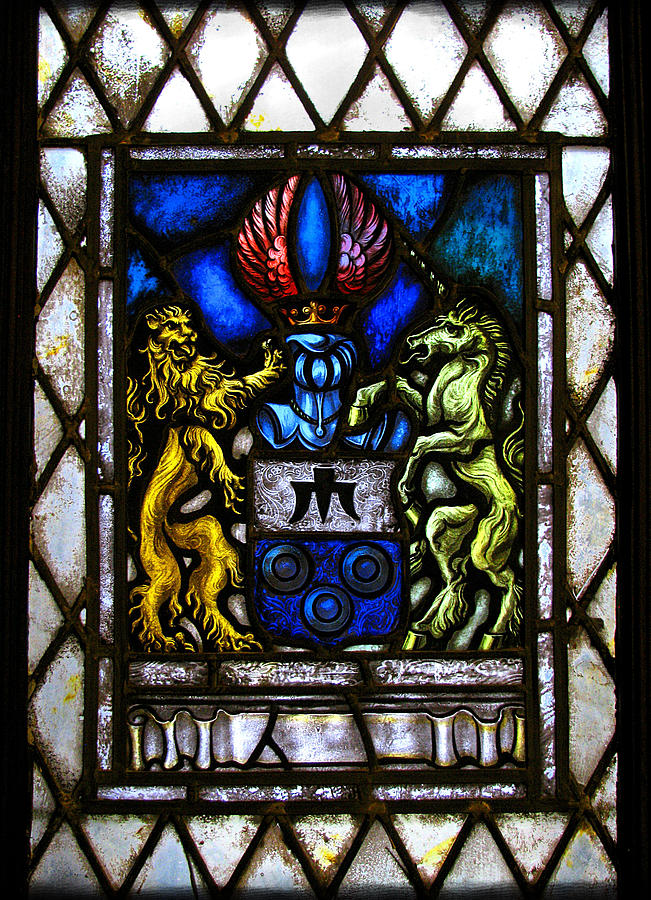 Stained Glass Photograph - The Lion And The Unicorn by Colleen Kammerer