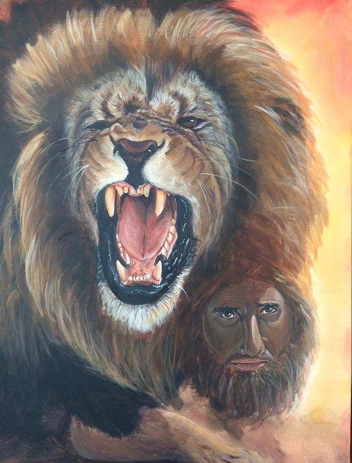 The Lion Of Judah Painting by Darlene Pyle