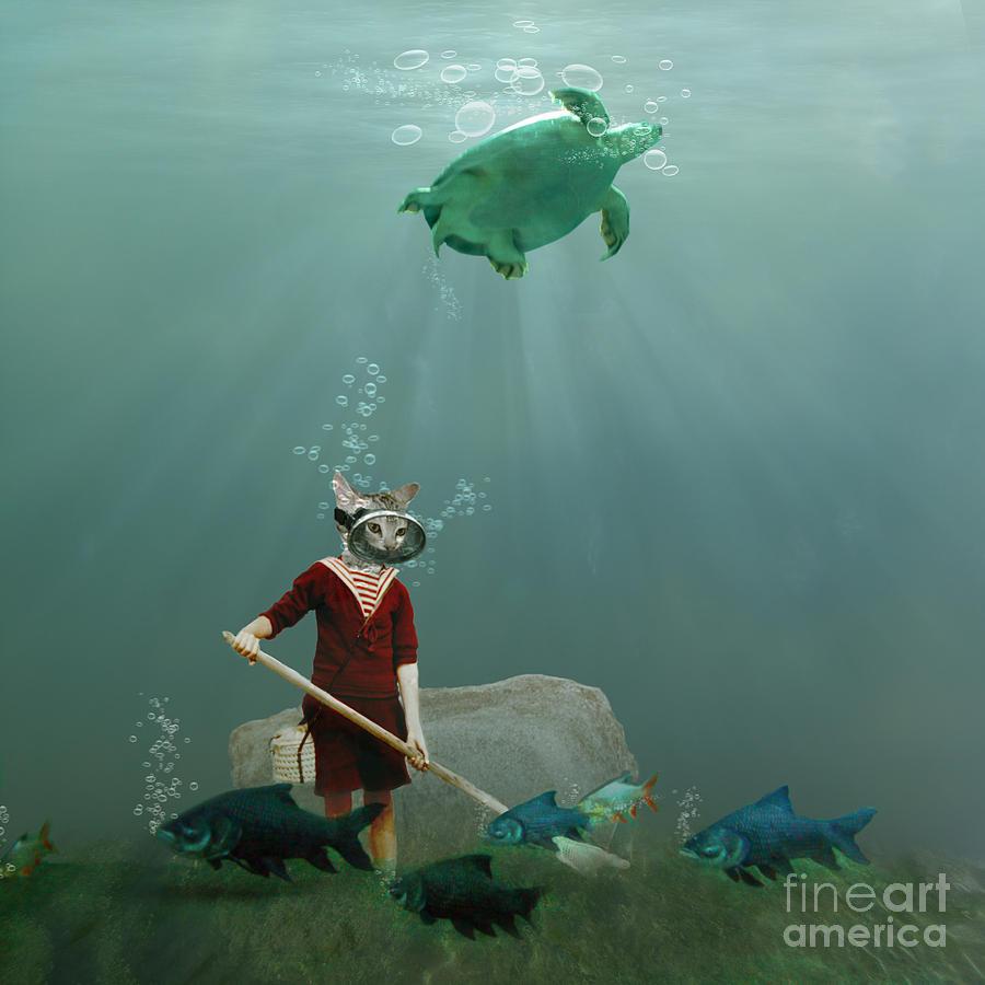 Underwater Photograph - The Little Gardener by Martine Roch
