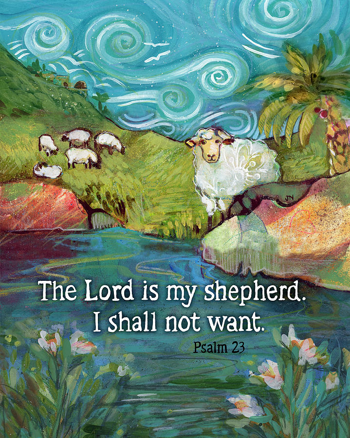 The Lord Is My Shepherd Painting