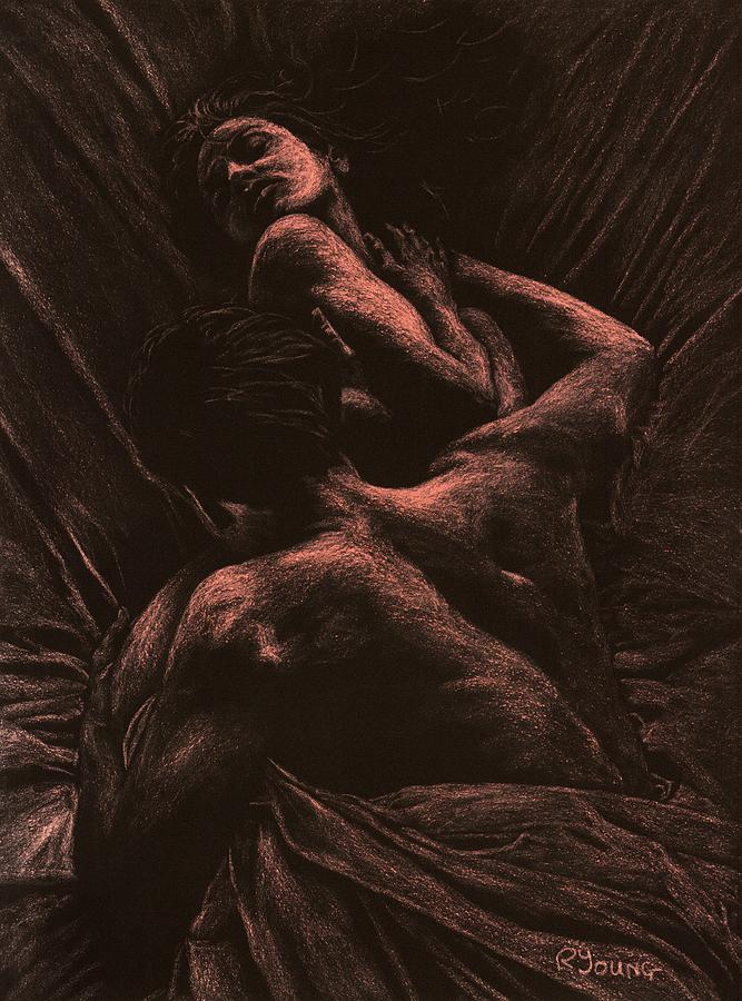 Nude Pastel - The Lovers by Richard Young