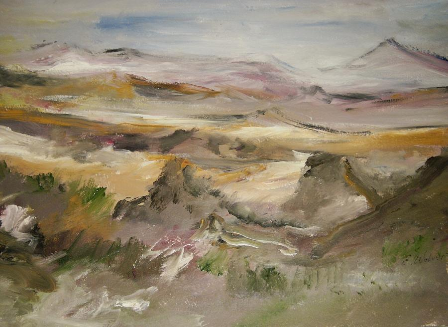 Landscap Painting - The Lower Mountain Range by Edward Wolverton