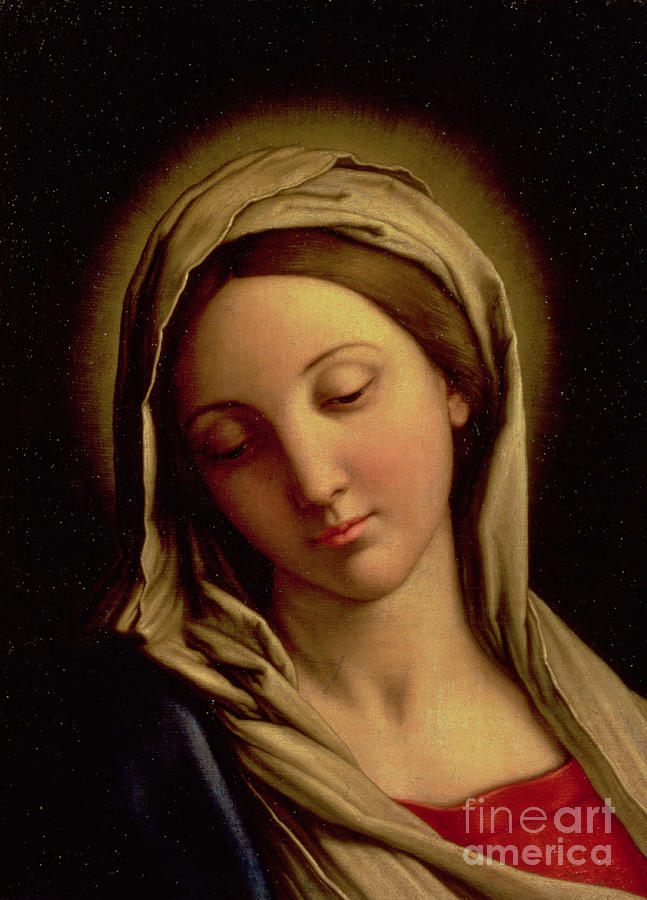 Mary Painting - The Madonna by Il Sassoferrato