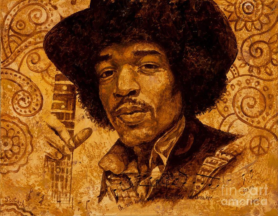 Jimi Hendrix Painting - The Magician by Igor Postash