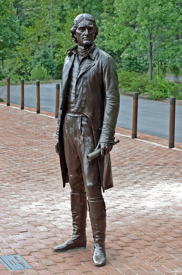 Thomas Jefferson Photograph - The Man Behind Monticello by DigiArt Diaries by Vicky B Fuller