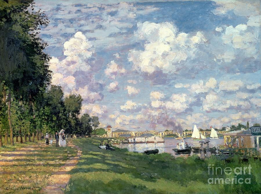 The Painting - The Marina At Argenteuil by Claude Monet