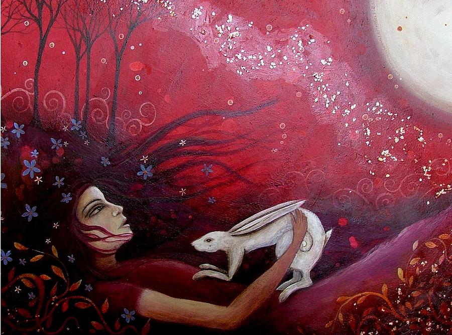 Acrylic Painting - The Messenger by Amanda Clark