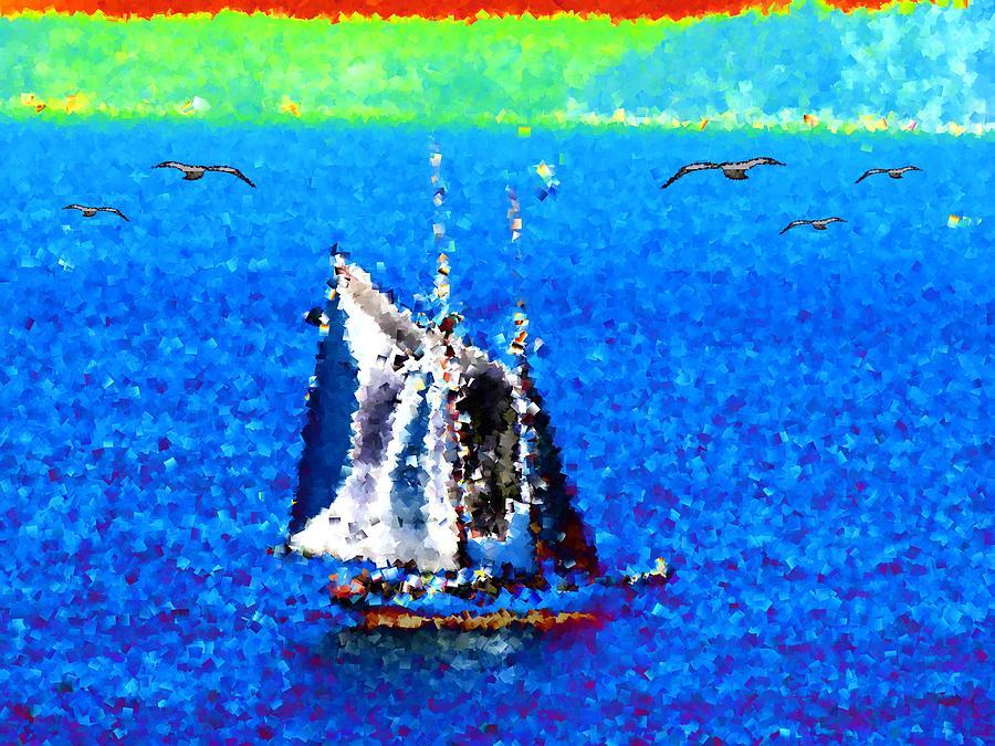 Sail Digital Art - The Messengers by Tim Allen