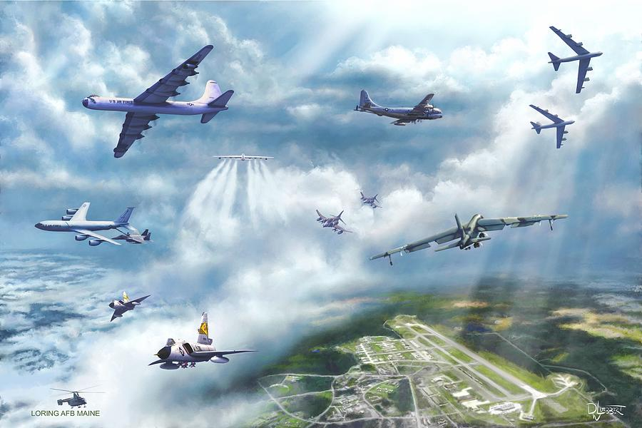 Loring Air Force Base Painting - The Mighty Loring A F B by Dave Luebbert