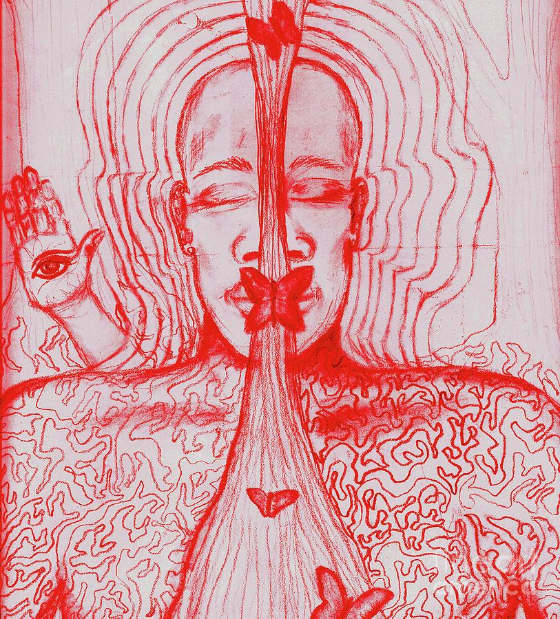 Figures Drawing - The Minds Eye by Elizabeth Hoskinson