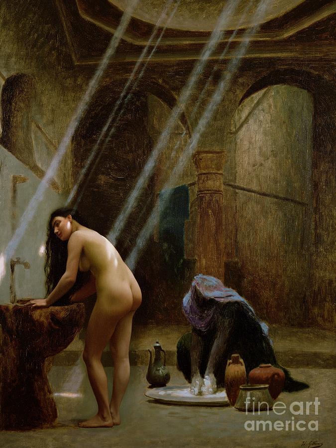 The Moorish Bath By Jean Leon Gerome (1824-1904) Painting - The Moorish Bath by Jean Leon Gerome
