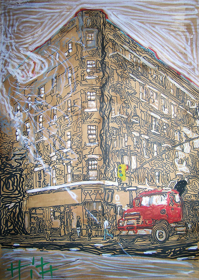Downtown Painting - The Morning by Jacob  Hitt