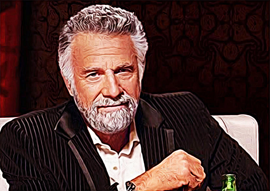 The Most Interesting Man In The World Painting by Iguanna ...