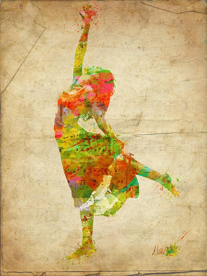 Dancer Digital Art - The Music Rushing Through Me by Nikki Smith