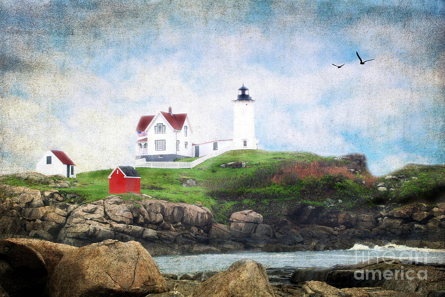 Architectural Photograph - The Nubble by Darren Fisher