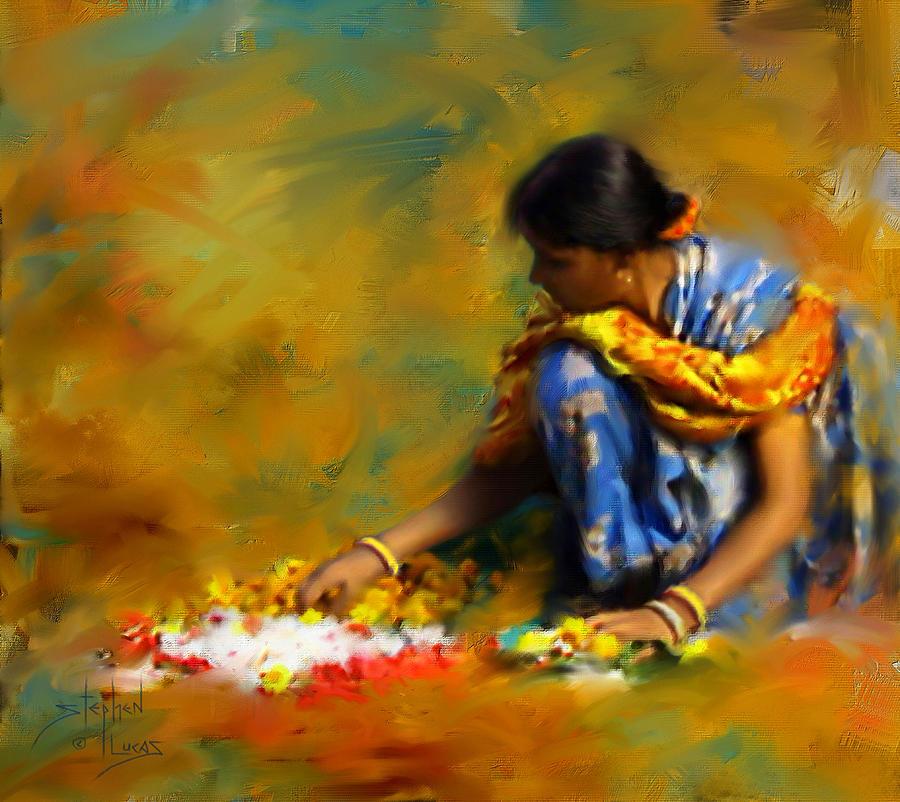 Spiritual Digital Art - The Offerings by Stephen Lucas