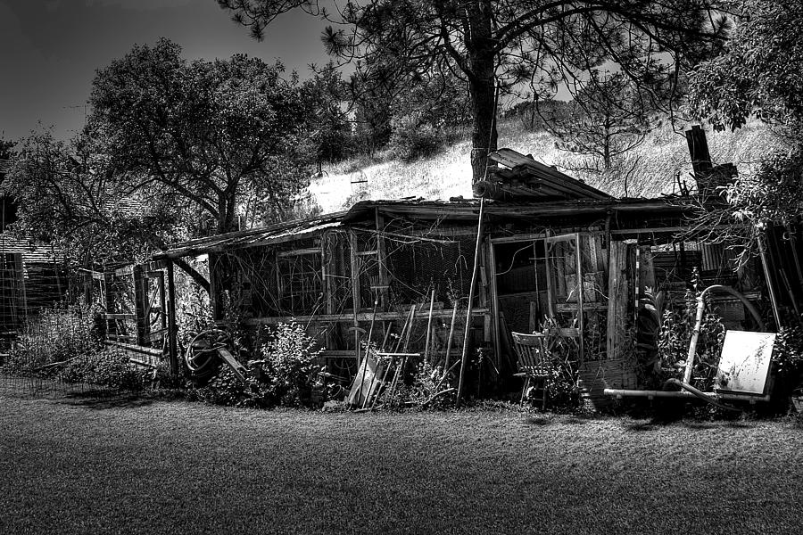 Black And White Photograph - The Old Shed II by David Patterson