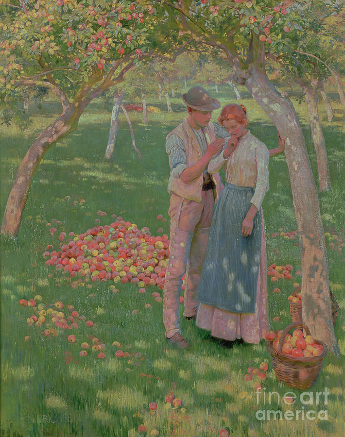 The Painting - The Orchard by Nelly Erichsen