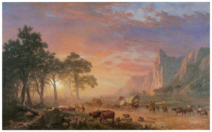 Albert Bierstadt Painting - The Oregon Trail by Albert Bierstadt