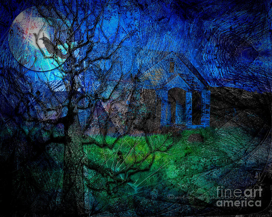 Midnight Digital Art - The Other Side Of Midnight by Mimulux patricia no