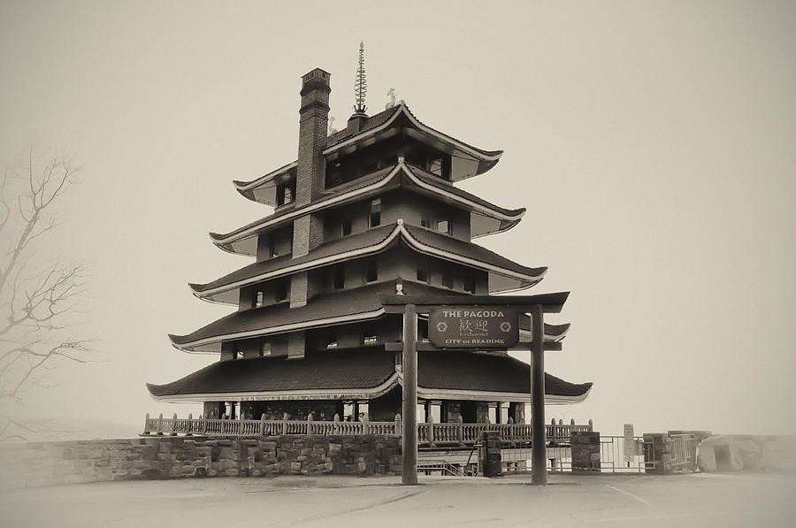 Pagoda Photograph - The Pagoda - Reading Pa. by Bill Cannon