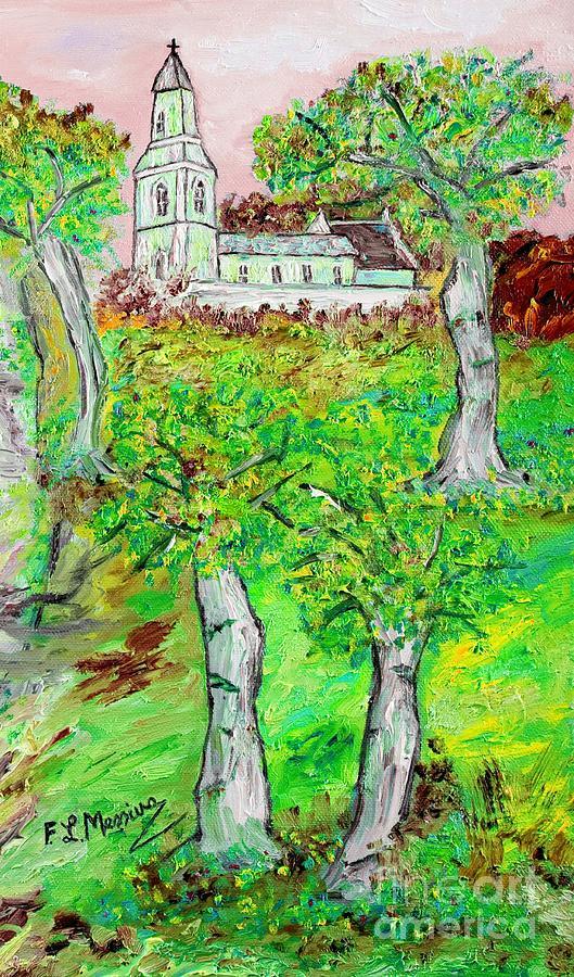 Oil Painting Painting - The Parish Curch by Loredana Messina