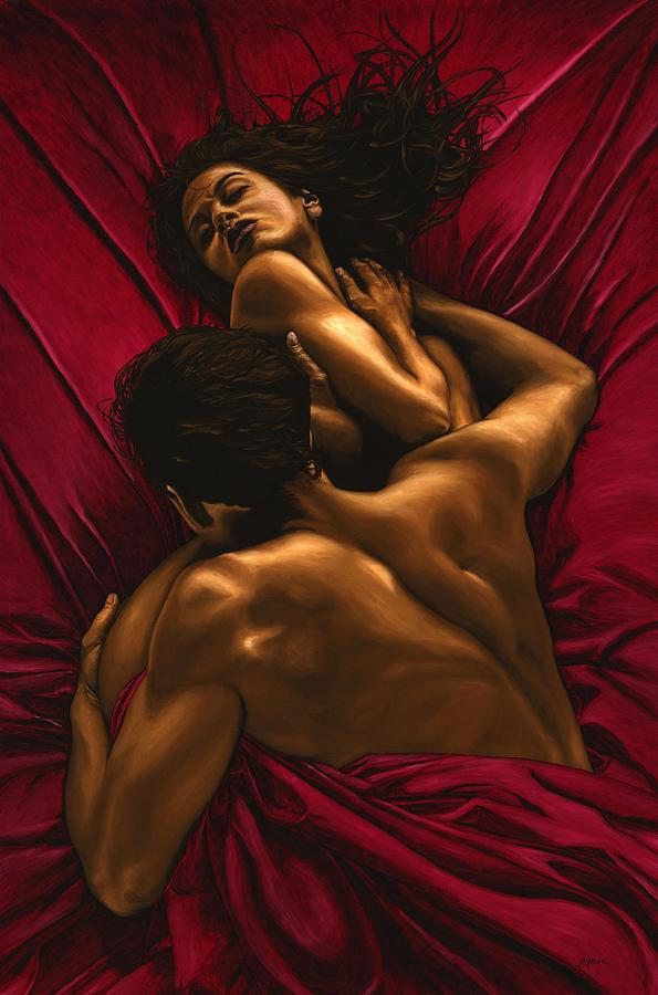 Nude Painting - The Passion by Richard Young