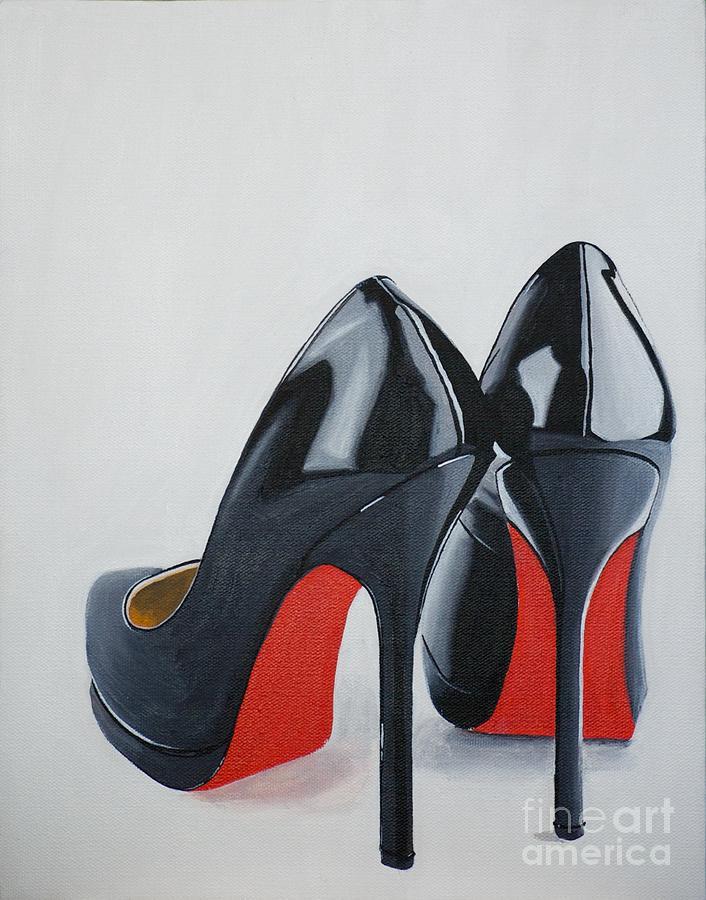 Black Painting - The Perfect Pair by Devan Gregori