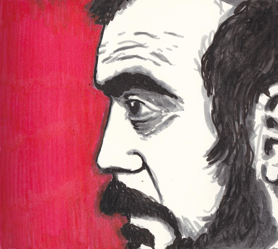 Kubrick Drawing - The Perfectionist by Jim Valentine