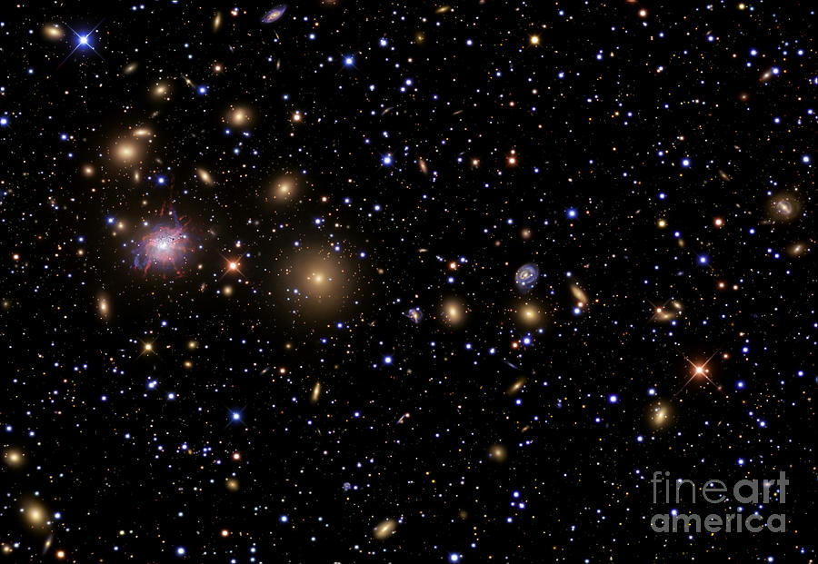 Celestial Photograph - The Perseus Galaxy Cluster by R Jay GaBany