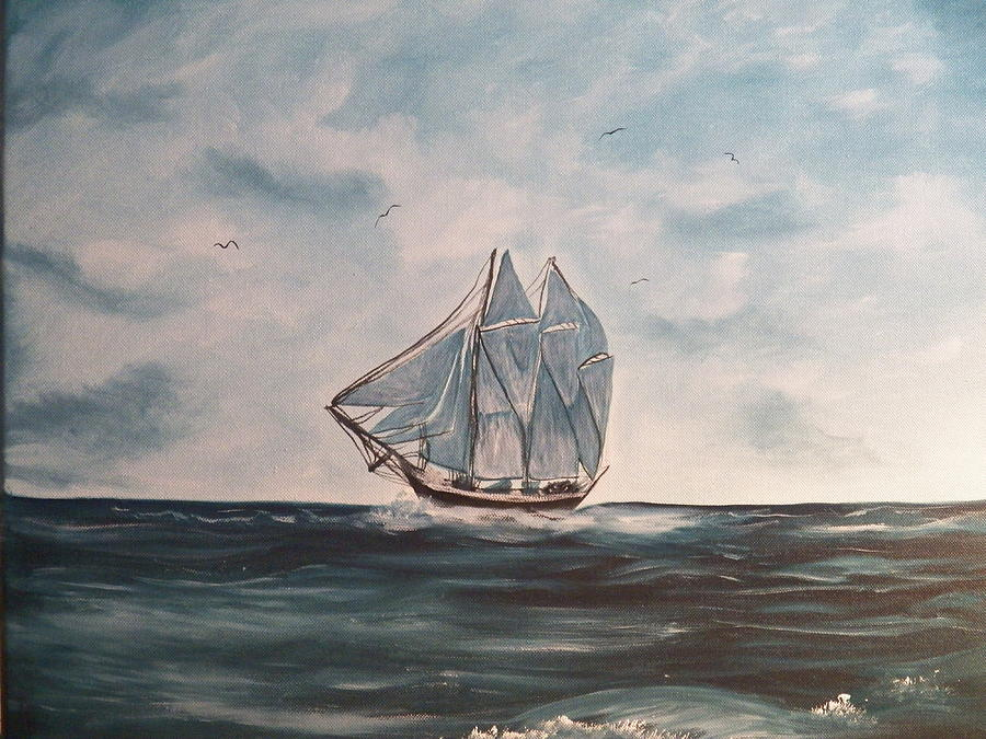 Acrylics Painting - The Phantom Of The Sea by Laurie Kidd
