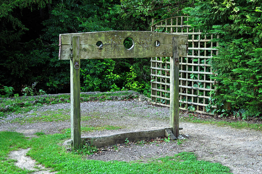 The Pillory In Shanklin Old Village Photograph