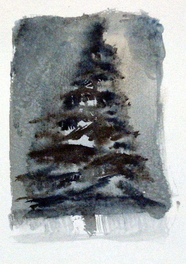 Pine Tree Painting - The Pine Tree by Mindy Newman