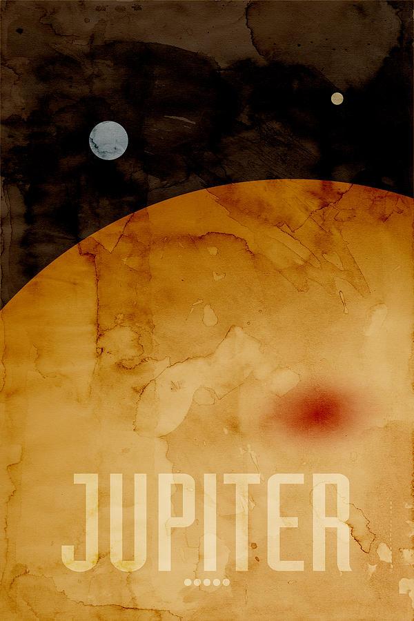Jupiter Digital Art - The Planet Jupiter by Michael Tompsett