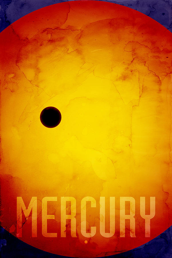 Mercury Digital Art - The Planet Mercury by Michael Tompsett