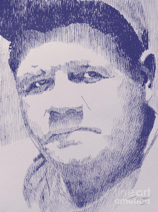 Babe Drawing - The Pride Of The Yankees by Robbi  Musser