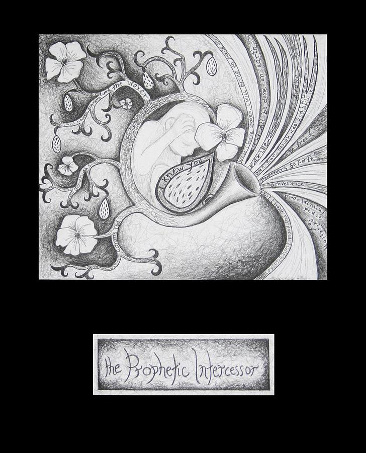 Christian Art Drawing - The Prophetic Intercessor by Amy Parker