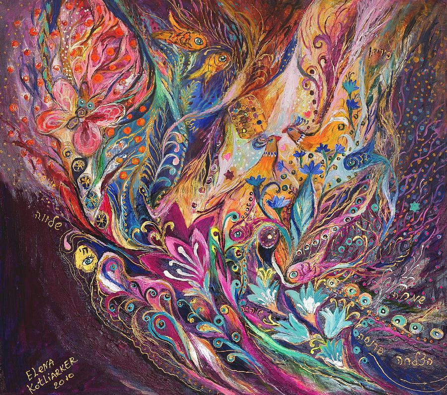 Original Painting - The Purple Stream by Elena Kotliarker