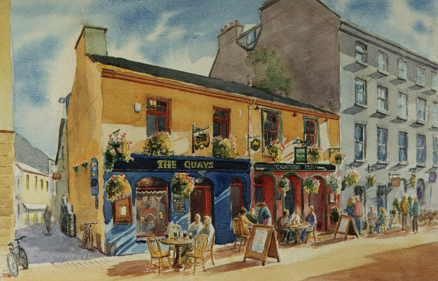 Galway Painting - The Quays Pub Galway by Tomas OMaoldomhnaigh